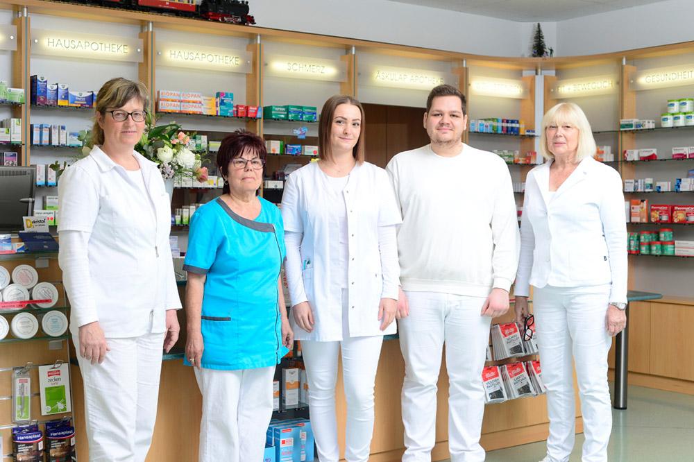Mitarbeiter der Äskulap Apotheke Wansleben
